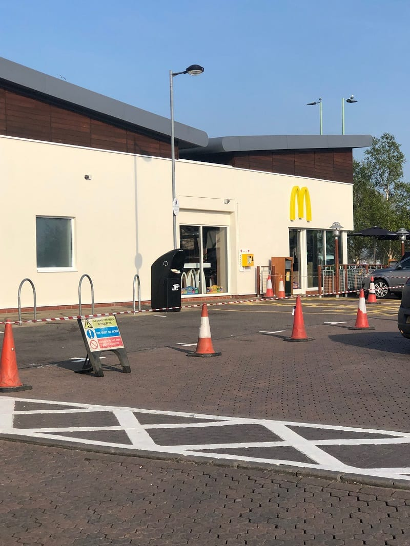 car park cleaning McDonald's