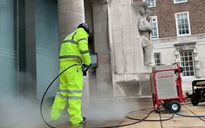 Stone Cleaning Services at Nottingham County Hall